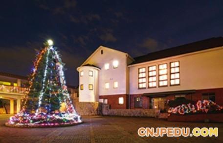 山梨英和高等学校圣诞树点灯祭