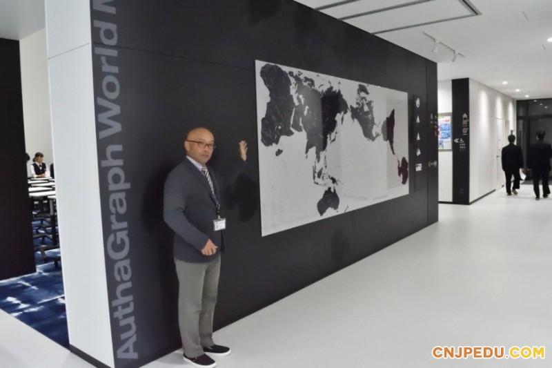 一楼走廊世界地图