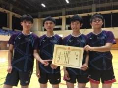 宝仙学园高中乒乓球地区大会得奖