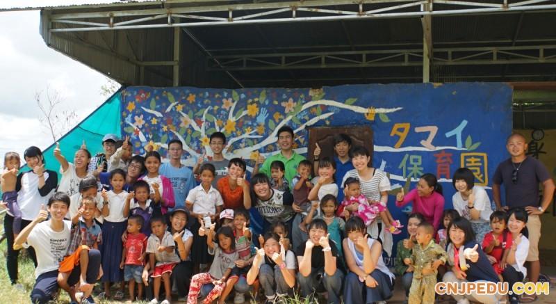 参加各国的志愿者活动